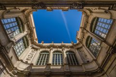 Architecture of Barcelona, Spain. Typical  architectural details in the city center of the Barcelona, Spain stock image