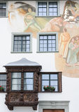 Typical architectural facade in St. Gallen Royalty Free Stock Photography