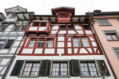 Typical architectural style in St. Gallen Stock Images