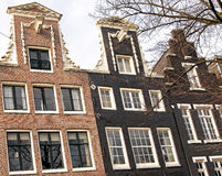 Typical architecture in Amsterdam, Netherlands Royalty Free Stock Photography