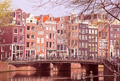 Typical architecture in Amsterdam, Netherlands stock photography