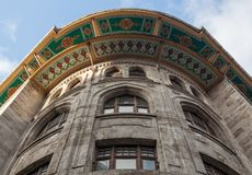 Typical architecture colorful dome decoration facade in istanbul turkey.  royalty free stock photography
