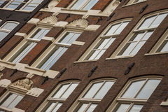 Typical architecture of dutch buildings front Royalty Free Stock Photos