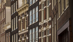 Typical architecture of dutch buildings front Royalty Free Stock Images