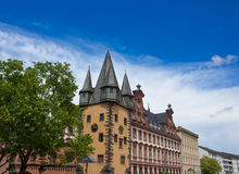 Typical architecture in Frankfurt am Main old town in Germany Royalty Free Stock Photos