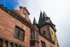Typical architecture in Frankfurt am Main old town in Germany Royalty Free Stock Photo
