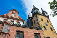 Typical architecture in Frankfurt am Main old town in Germany Stock Photo