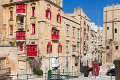 Typical architecture of historic Valletta Stock Photo