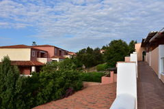 Typical architecture holiday resort on Sardinia. Royalty Free Stock Images