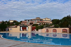 Typical architecture holiday resort on Sardinia. Stock Photography