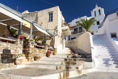 Typical architecture on Island Naxos, Cyclades, Greece Stock Images