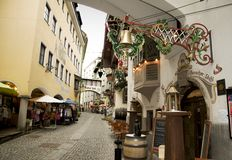 Typical architecture in Kufstein Stock Photography