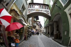 Typical architecture in Kufstein Stock Photos