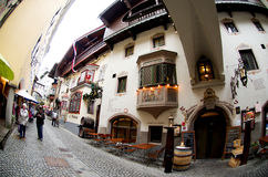 Typical architecture in Kufstein Royalty Free Stock Photos