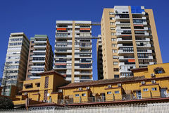 Typical architecture of La Malagueta district in Malaga, Costa del Sol, Spain Royalty Free Stock Image