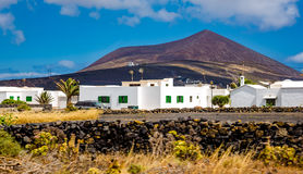 Typical architecture on Lanzarote island. Stock Images