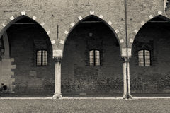 Typical architecture in Mantua, Italy Royalty Free Stock Image