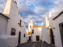 Monsaraz in Alentejo region, Portugal. Typical architecture in Monsaraz in Alentejo region, Portugal, at sunset Royalty Free Stock Image