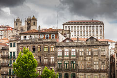 Typical architecture of old Porto downtown Royalty Free Stock Images