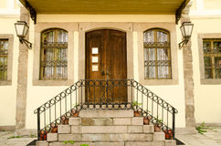 Typical architecture in the old town, Plovdiv Royalty Free Stock Images