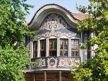 Typical architecture in the old town, Plovdiv Stock Photography