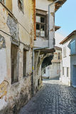 Typical architecture of old town of Xanthi,  Greece Royalty Free Stock Photos
