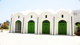 Typical architecture in the port of La Goulette Royalty Free Stock Photos