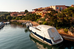 Typical architecture in Porto Cervo, Sardinia, Italy Royalty Free Stock Images