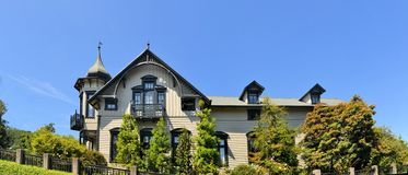 Typical architecture in Puerto Varas, Patagonia Royalty Free Stock Photo