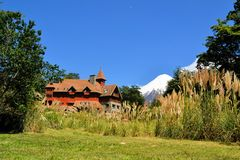 Typical architecture in Puerto Varas, Patagonia Stock Image