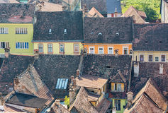 Typical architecture in Sighisoara, Romania. Royalty Free Stock Photos