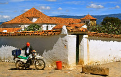 Typical Architecture of Villa de Leyva, Colombia Royalty Free Stock Image