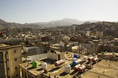 Typical architecture of Yemen in Ibb, Yemen. In a sunny day Royalty Free Stock Image