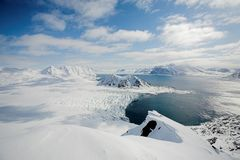 Typical Arctic winter landscape - Spitsbergen Royalty Free Stock Photography