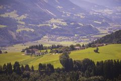 Typical area of Tyrol nature Royalty Free Stock Images