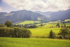 Typical area of Tyrol nature Stock Image