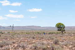 Typical arid Karoo landscape Stock Photos