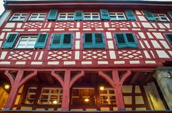 Typical arquitecture in Meersburg, Constance lake Royalty Free Stock Images