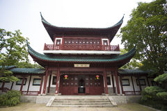 Typical asian Buddhism temple at Shanghai Stock Image