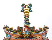 Typical Asian Chinese temple roof. Architecture Royalty Free Stock Photography