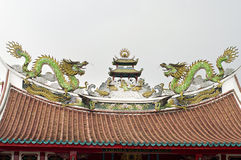 Typical Asian Chinese temple roof architecture Royalty Free Stock Images