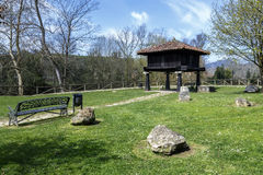 Typical Asturian granary in Cangas de Onis Royalty Free Stock Photos