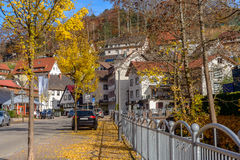 Typical, authentic village with cozy houses the countryside in the Germany autumn Royalty Free Stock Images
