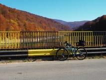 Autumn colours in Romania. Typical autumn colours on a road at Doftana River Valley, Prahova County, Romania Royalty Free Stock Photos