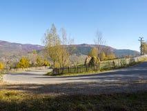 Autumn colours in Romania. Typical autumn colours Valea Doftanei village in Doftana River Valley, Prahova County, Romania Royalty Free Stock Images