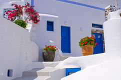 Typical backyard on Santorini island, Greece Royalty Free Stock Images