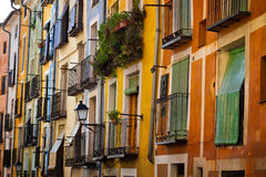 Typical balconies of Cuenca, Spain Stock Photography