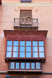 Typical balcony of Granada. Andalusia, Spain royalty free stock image