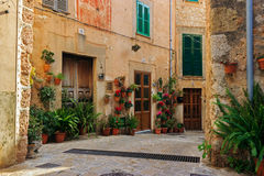 Typical balearic flowered house entrances Royalty Free Stock Photos