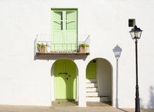 Typical balearic house front Royalty Free Stock Photography